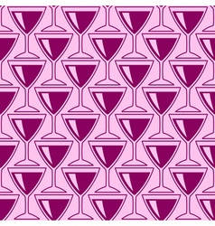 Wineglass pattern vector