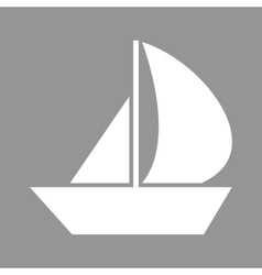 Sail boat icon vector