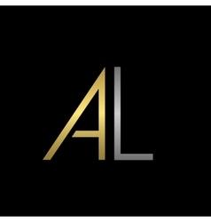 AL letters logo vector image