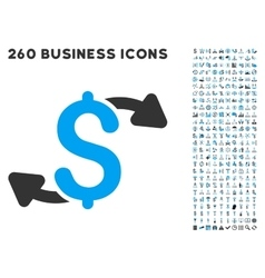 Cash outs icon with flat set vector