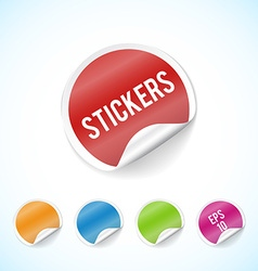 colorfull circle stickers colorful set eps 10 vector image