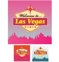 welcome to lass Vegas vector image