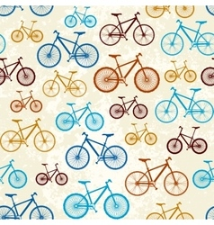 Pattern of bicycles vector