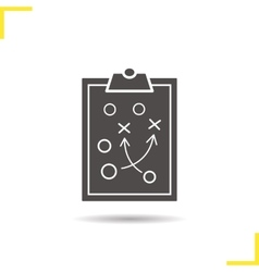 Clipboard game plan icon vector