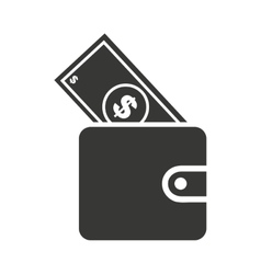 Bills in wallet isolated icon design vector
