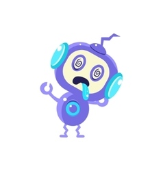Broken little robot vector