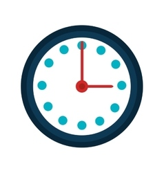 Wall clock isolated icon over white vector