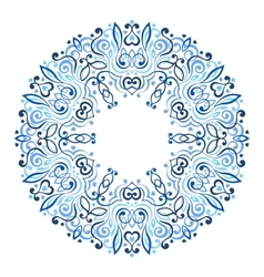 Abstract Ornate Mandala Decorative frame for vector image vector image