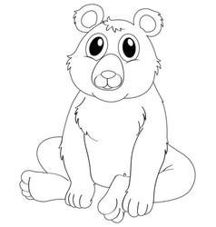 Animal outline for grizzly bear vector