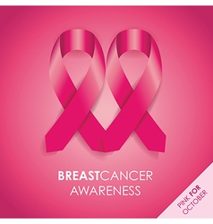 Breast cancer background vector