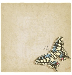 Butterfly machaon old background vector