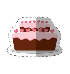 Cake pastry dessert shadow vector
