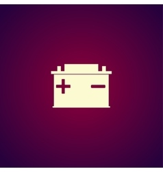 car battery icon vector image vector image