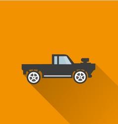 Car icon 3 Long Shadow vector image vector image