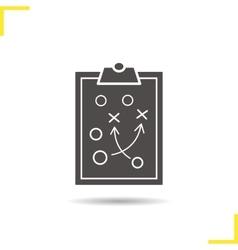 Clipboard game plan icon vector