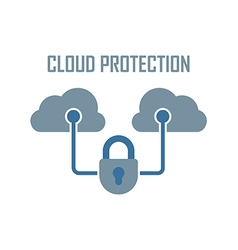 cloud protection vector image vector image