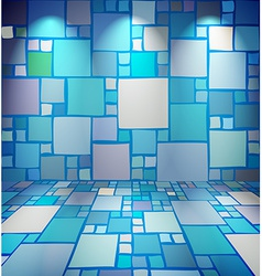 Club room with squares vector