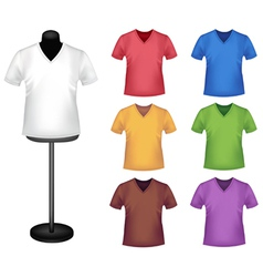 colored shirts vector image