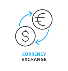 currency exchange concept outline icon linear vector image