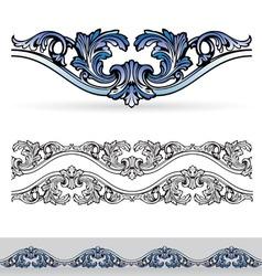 Filigree design elements vector