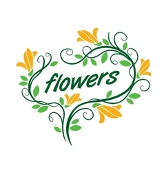 flower logo vector image vector image
