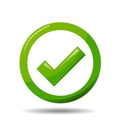 Green check mark symbol vector