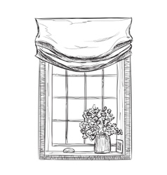 Hand drawn Windows Sketch vector image vector image