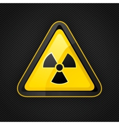 Hazard radioactive sign vector
