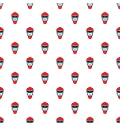 Hockey helmet pattern cartoon style vector