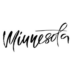 Minnesota modern dry brush lettering retro vector