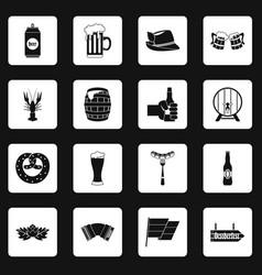 Oktoberfest icons set squares vector