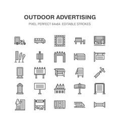 Outdoor advertising commercial marketing flat vector