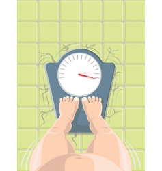 overweight vector image