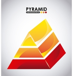 pyramid infographic vector image vector image