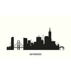 San Francisco skyline silhouette vector image vector image