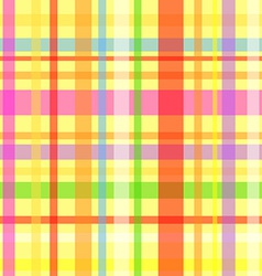 Seamless plaid pattern-yellow vector image