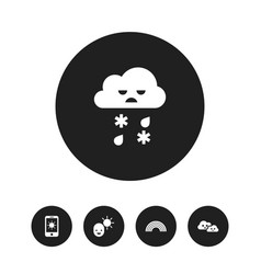 set of 5 editable climate icons includes symbols vector image vector image