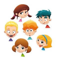 Set of different character expressions vector image vector image