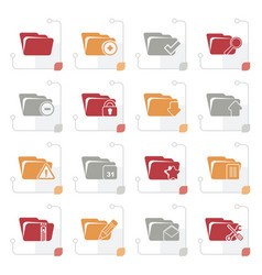 Stylized different kind of folder icons vector