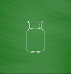 Suitcase computer symbol vector image vector image
