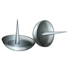 Thumb tacks vector
