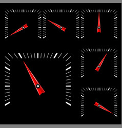 Universal square gage scale on black background vector