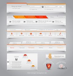 Web site navigation menu pack 23 vector image vector image