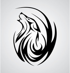 Wolf tattoo design vector