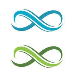 Infinity Design Infinity logo Logo template vector image