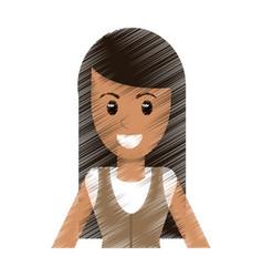 drawing portrait woman avatar vector image
