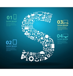 Application icons alphabet letters S design vector image