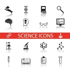 Simple science and research icons symbols set vector