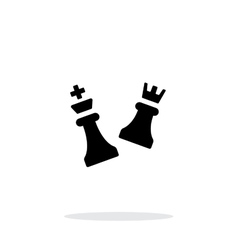 Chess attack simple icon on white background vector