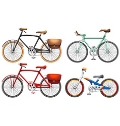 Sets of pedal bikes vector